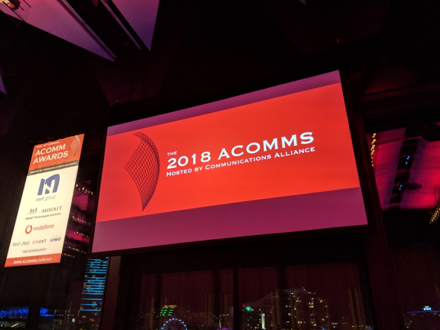 Tudehope named Comms Ambassador at 2018 ACOMMS, with Fifield/Stanton speeches hittinghome