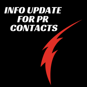 Info update for PR contacts