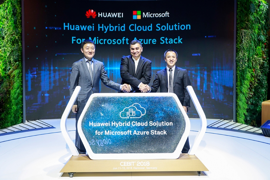 Huawei launches hybrid cloud service for Microsoft AzureStack