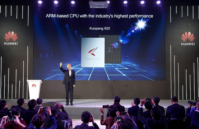 Huawei unveils 'industry's highest-performance ARM-basedCPU'